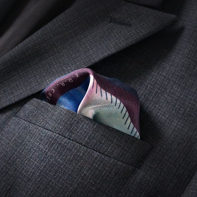 E.D.R Creations x Jeya Narrative pocket square: 'Visione Rosa'