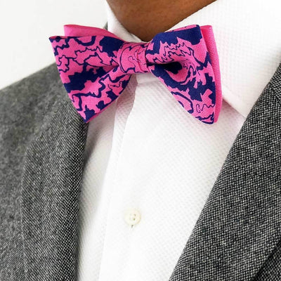 Pink linen bow tie | Made in the UK
