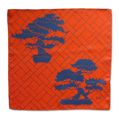Manchuria red pocket square