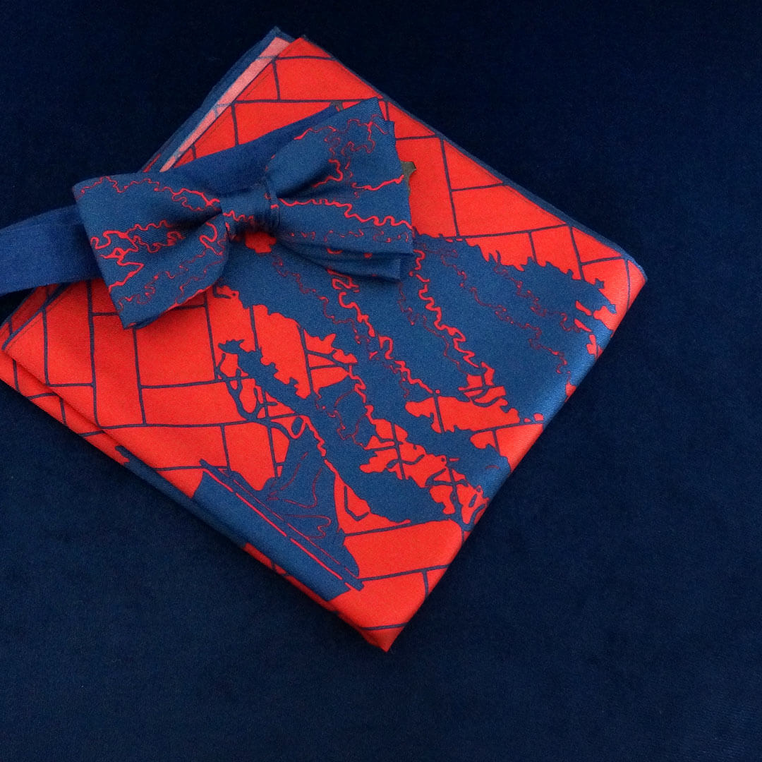 Rory Hutton | Manchuria bow tie and pocket square gift set