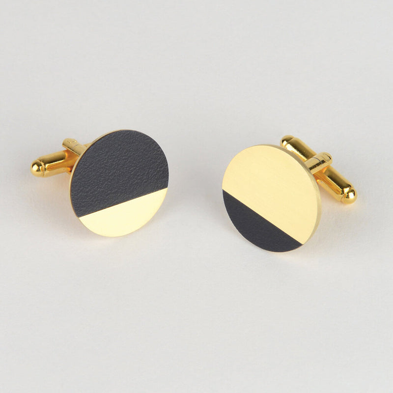 Tom Pigeon Form Segment cufflinks in midnight blue