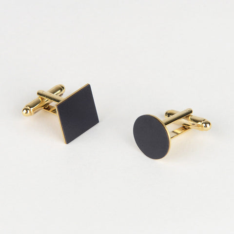 Tom Pigeon mix and match blue cufflinks