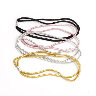 Double Elastic Head Band - Various Colours