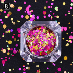 Confetti Nail Sequins in 8 Colours for Colourful Manicure