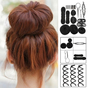 Hair Styling Set - Bun Maker, Hair Twists & Braiding Tools