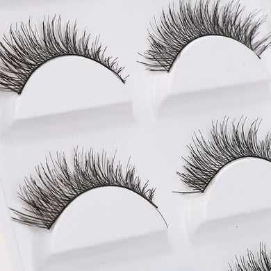 Thick Soft Cross False Eye Lashes - 5 Pairs