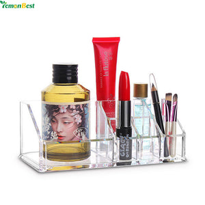 Cosmetics and Makeup Acrylic Organiser - Storage with 9 Compartments
