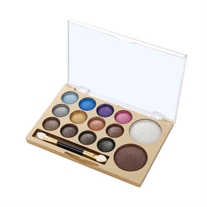 Smoky Eye Shadow Makeup Palette  - 14 Colours Matte & Pearl Shimmer
