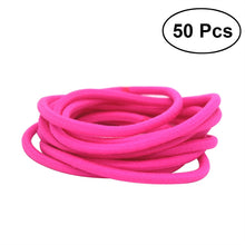 50 Nylon Ponytail Hair Bands - 4 Colours