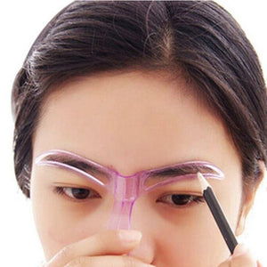 Eyebrow Stencil Template Tool for Grooming and Filling Eyebrows