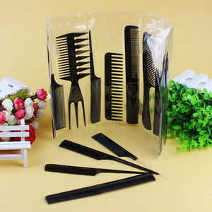 Set of 10 Hairdressing Combs Anti-Static Professional Kit