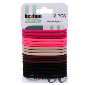 Women's Elastic Hair Bands 4mm in Various Colours - Pack of 18