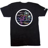 Mens Black with Blue Waves T-Shirt