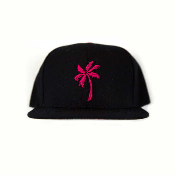 """Good Life"" Palm Tree Snapback Pink"