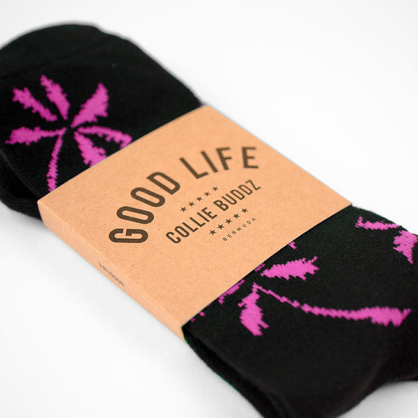 Palm Tree Socks Magenta