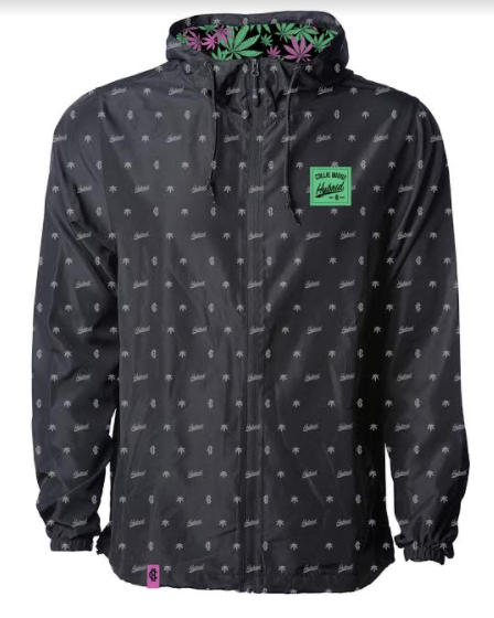 Hybrid Collection all-over print windbreaker jacket