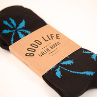 Palm Tree Socks Blue