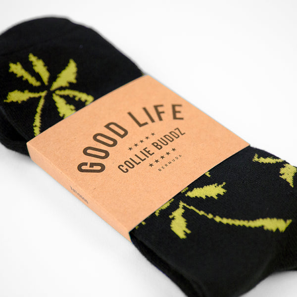 Palm Tree Socks Yellow