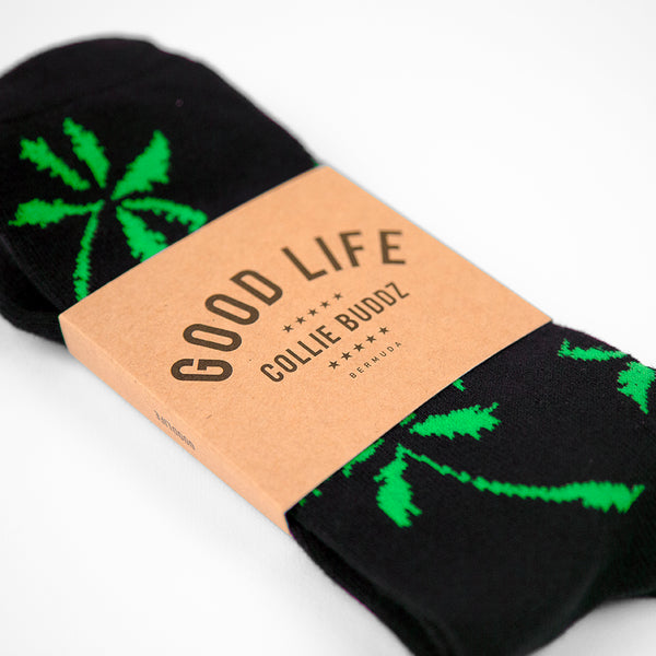 Palm Tree Socks Green