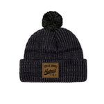 Hybrid Collection Dark Grey Pom Beanie
