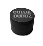 "Collie Buddz - 4 Piece 2.5"" Herb Grinder Matte Black"