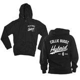 Hybrid Collection Black & White Full Zip Hoodie