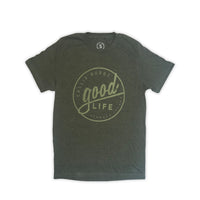 Mens Good Life Bermuda T-Shirt Green