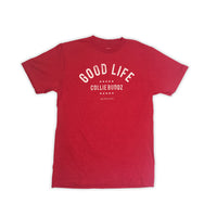 Mens Good Life T-Shirt Red