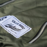 Hybrid Collection Bomber Jacket Olive Green