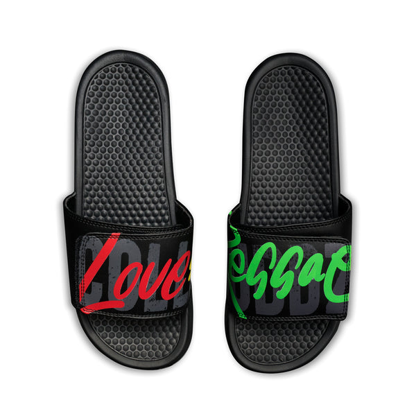 Men's Love & Reggae Slides (Pre Order)