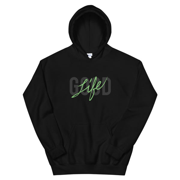 Good Life Hoodie in Hot Green