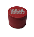 "Collie Buddz - 4 Piece 2.5"" Herb Grinder Matte Red"