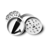 "Collie Buddz - 4 Piece 2.5"" Herb Grinder Matte White"