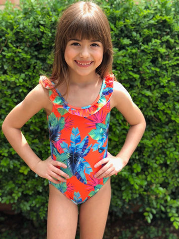 Atomic Orange Pool Swimsuit