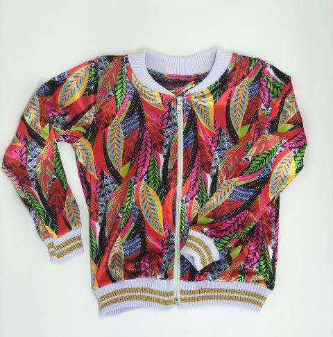 Color Plume Bomber Jacket