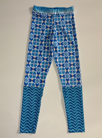 Blue Waves Legging Pants 2