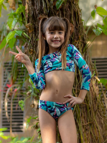 Deep Forest Long Sleeve Bikini