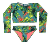 Green Garden Bikini Long Sleeve