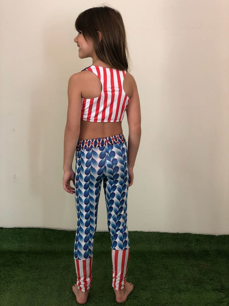 Circus Stripes Legging Pants