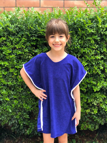 Royal Blue Towel Kaftan