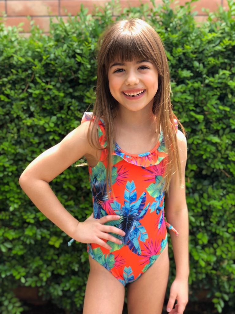 Girls Swimsuit Atomic Orange