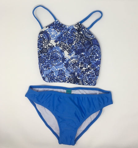 Top Blue High Top Bikini