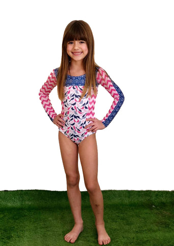 Princess Bird Long Sleeve Swimsuit