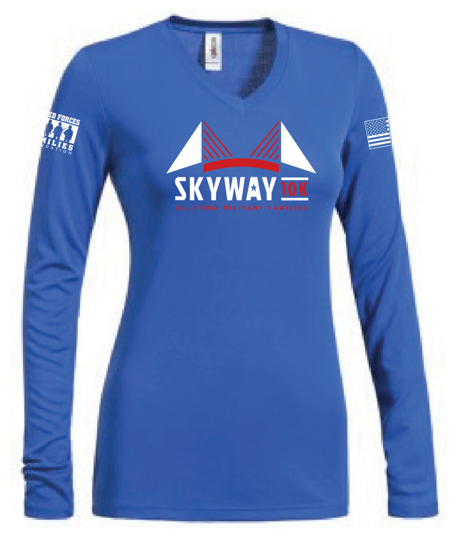 Women's Skyway 10K V-Neck Long Sleeve Expert Tee - Moisture wick