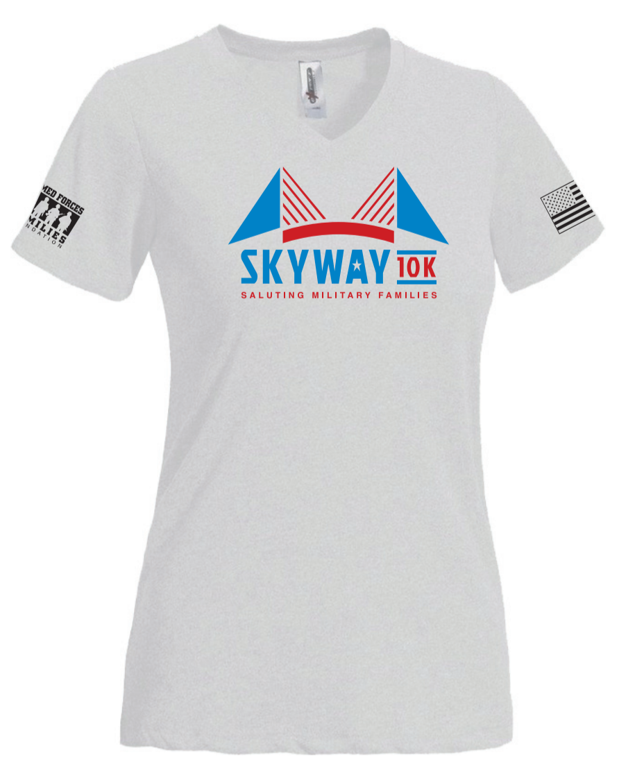 Women's Skyway 10K Natural Feel Jersey V-Neck - Moisture Wick