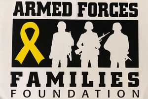 "Armed Forces Family Foundation 4"" x 6"" adhesive decal"