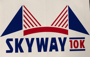 "Skyway 10k 4"" x 6"" adhesive decal"