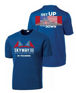 Unisex Skyway 10K In Training Short Sleeve Sport Tek Tee