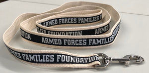 Armed Forces Family Foundation woven organic pet leash; 6'