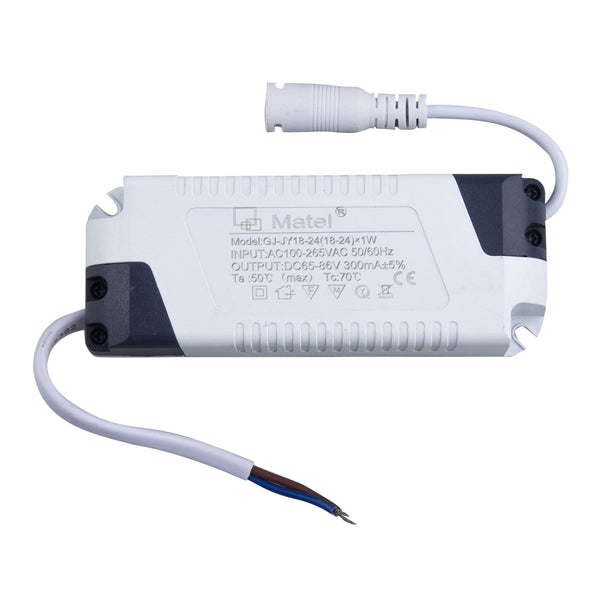DRIVER / TRANSFORMADOR PARA PLACAS LED DOWNLIGHT FINAS 1W ATE 30W 300 mAh